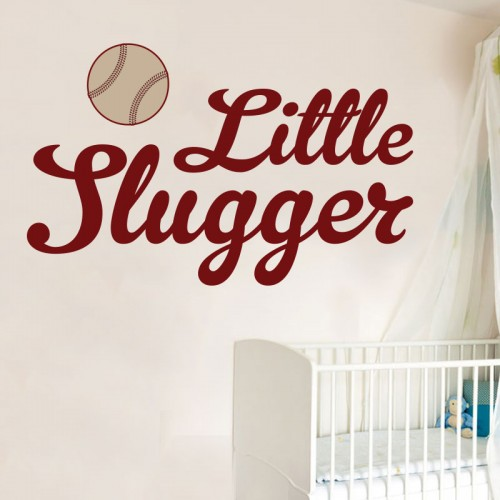 View Product Little Slugger Wall Decal