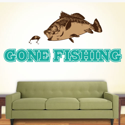 View Product Gone Fishing Wall Decal