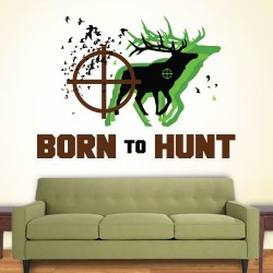 Born To Hunt Wall Decal