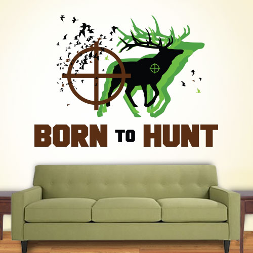 View Product Born To Hunt Wall Decal