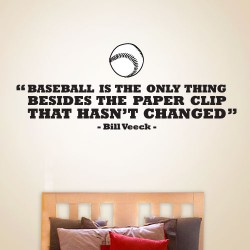 Baseball Hasnt Changed Wall Decal