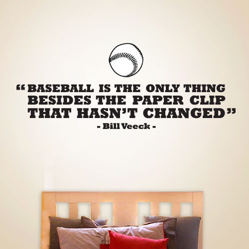 View Product Baseball Hasnt Changed Wall Decal