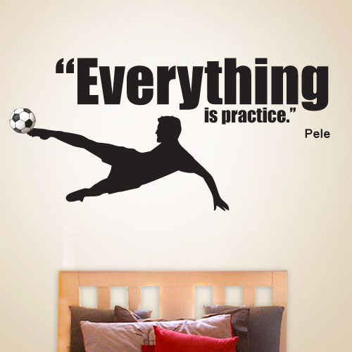 View Product Everything Is Practice Wall Decal