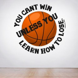 Cant Win Learn To Loose Wall Decal
