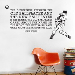 Ballplayer Jerseys Wall Decal