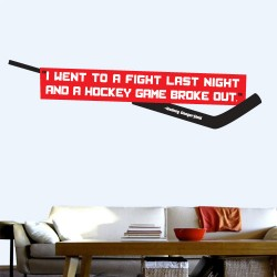 Hockey Fight Wall Decal