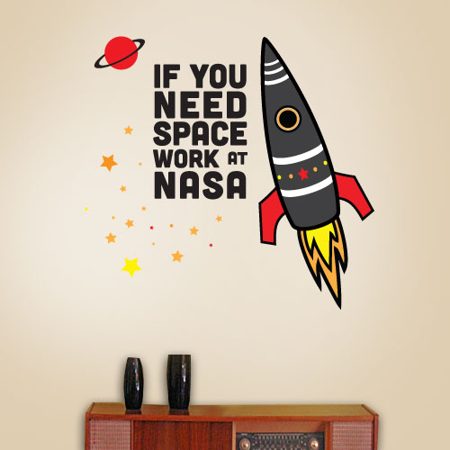 View Product Need Space Nasa Wall Decal