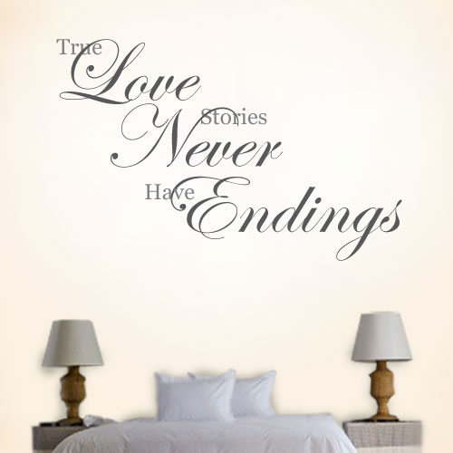 View Product True Love Stories Wall Decal