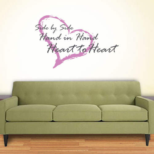View Product Side By Side Wall Decal
