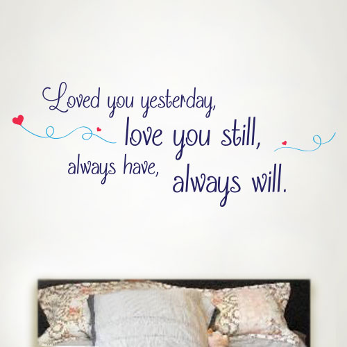 View Product Love You Always Wall Decal
