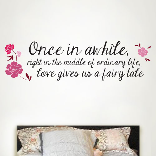 View Product Love Gives You A Fairy Tale Wall Decal