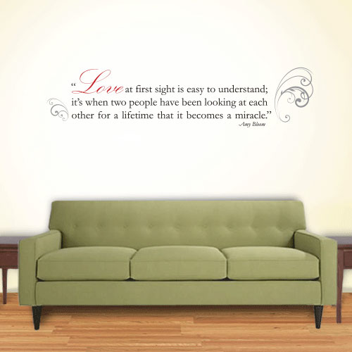 View Product Love Miracle Wall Decal