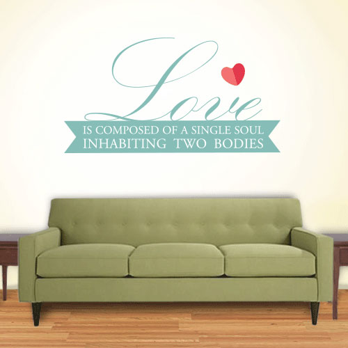 View Product Love Two Souls Wall Decal