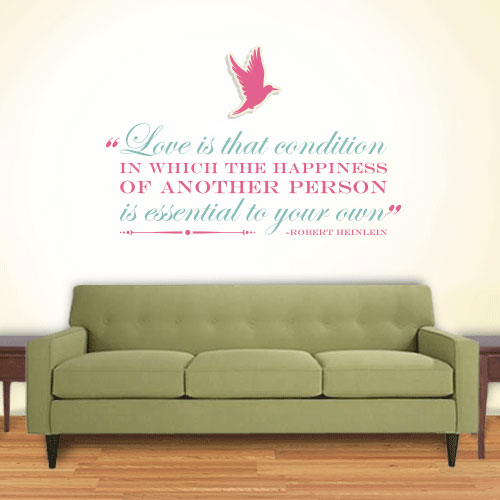 View Product Love Happiness Essential Wall Decal
