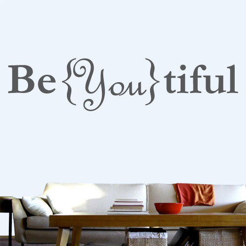 View Product Be You Tiful Wall Decal