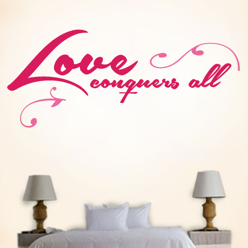 View Product Love Conquers All Wall Decal