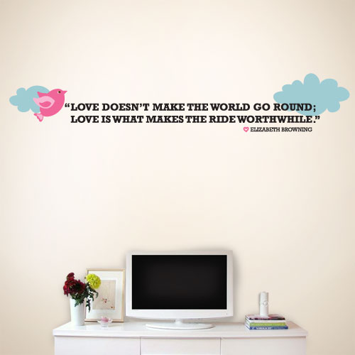 View Product Love Worth While Wall Decal