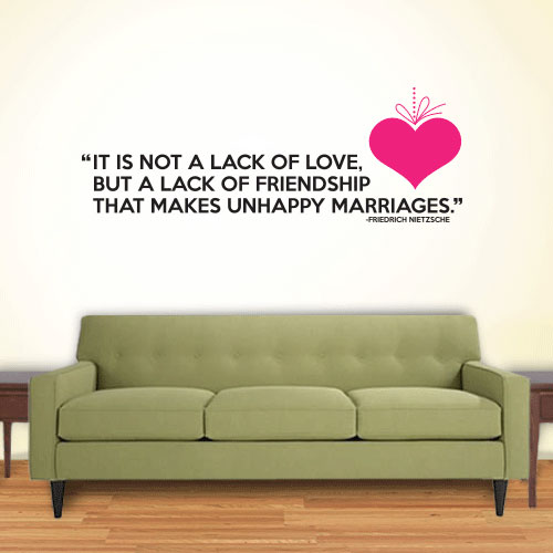View Product Love Friendship Wall Decal