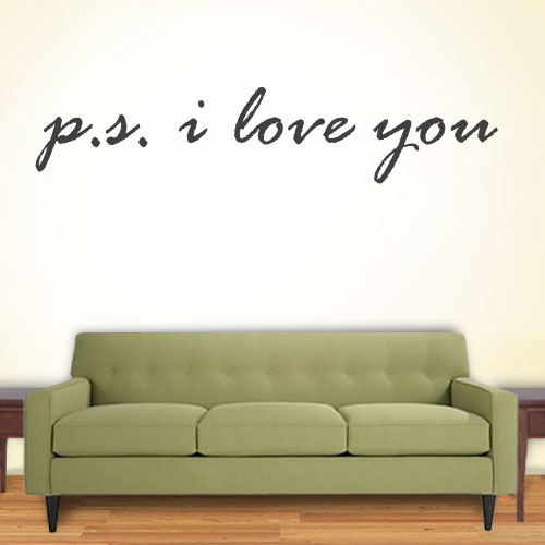 View Product P S I Love You Wall Decal