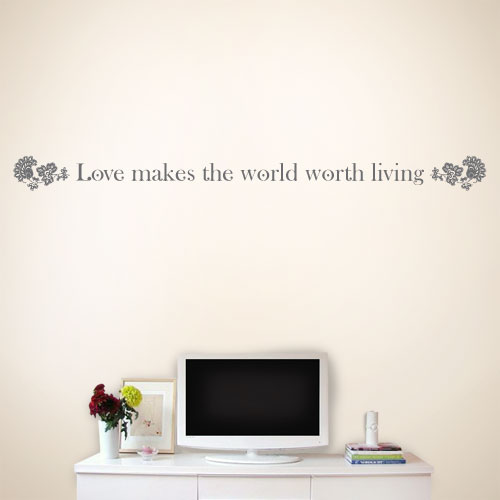 View Product Love Makes The Wall Decal