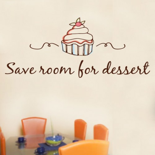 View Product Save Room For Dessert Wall Decal