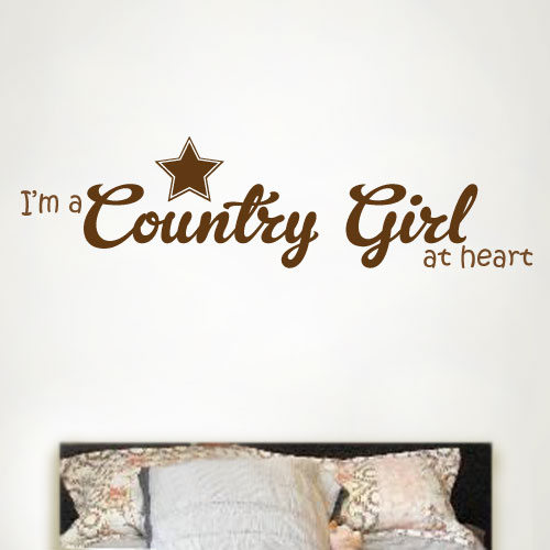 View Product Im A Country Wall Decal