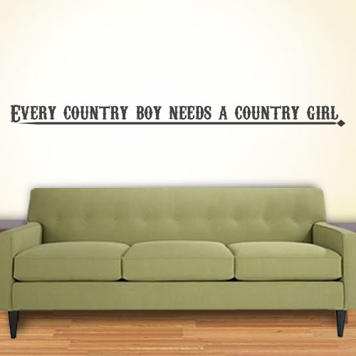 View Product Every Country Boy Wall Decal