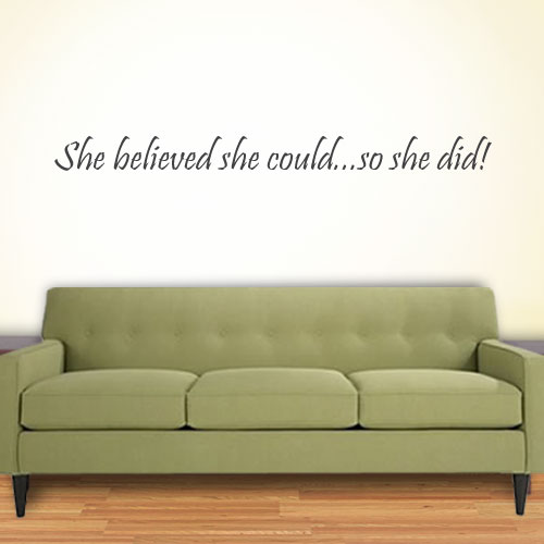 View Product She Believed She Could Wall Decal