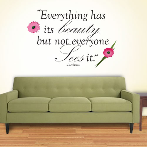 View Product Everything Has Beauty Wall Decal