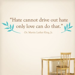 Hate Cannont Drive Out Hate Wall Decal