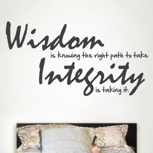 View Product Wisdom Is Knowing Wall Decal