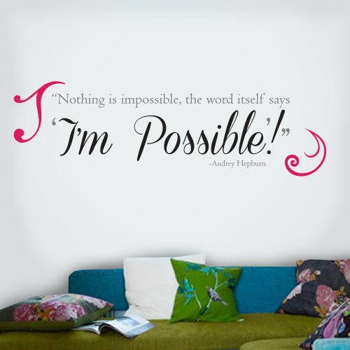 View Product Im Possible Wall Decal