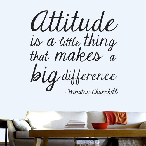 View Product Attitude Makes A Big Difference Wall Decal