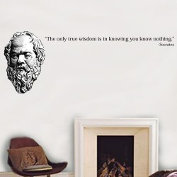The Only True Wisdom Wall Decal