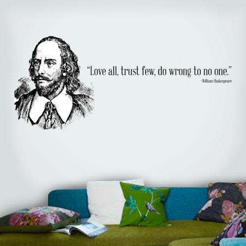 View Product Love All Trust Few Wall Decal