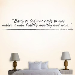 Early To Bed Wall Decal