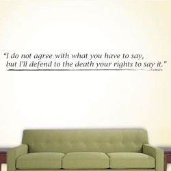 I Do Not Agree Wall Decal