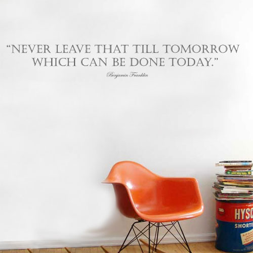 View Product Never Leave That Wall Decal