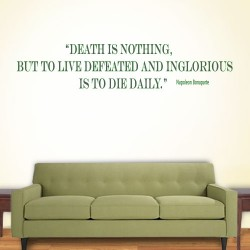 Death Is Nothing Wall Decal