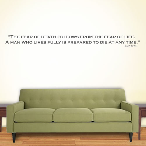 View Product The Fear Of Wall Decal