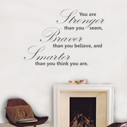 You Are Stronger Wall Decal