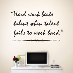 Hard Work Beats Wall Decal