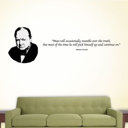 Man Will Occasionally Wall Decal