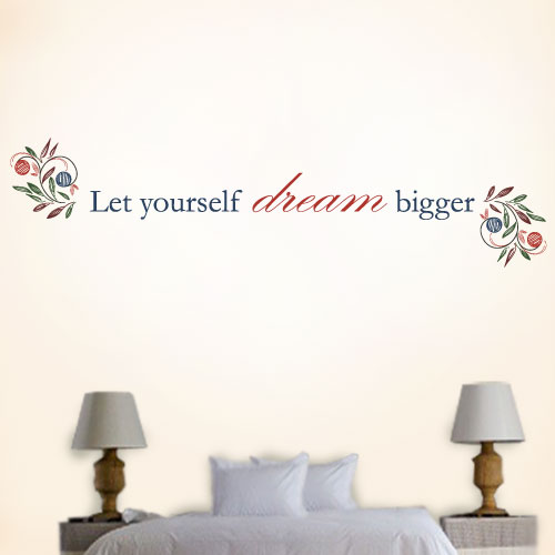 View Product Let Yourself Dream Bigger Wall Decal