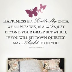 Happiness Butterflies Wall Decal
