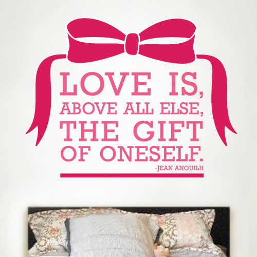 View Product Love Is A Gift Wall Decal