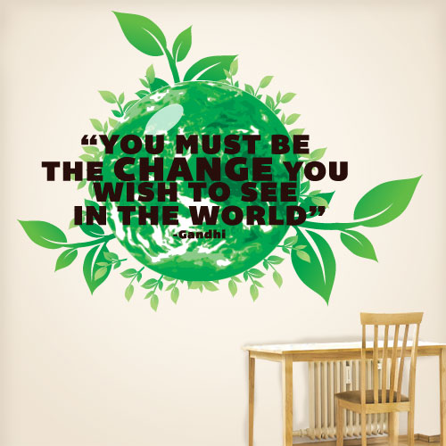 View Product Be The Change Wall Decal