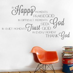 In Happy Moments Wall Decal