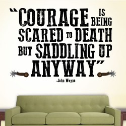 Courage Saddle Up Wall Decal