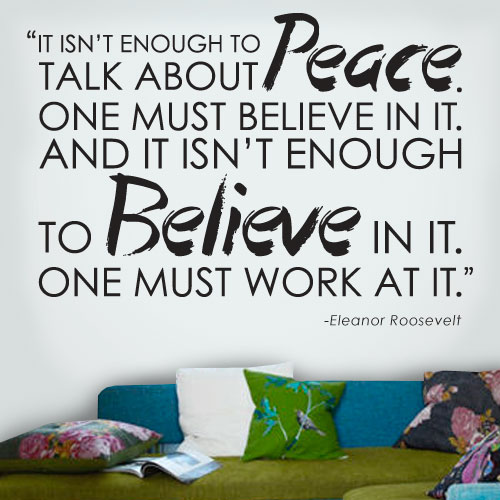 View Product Peace Believe Wall Decal